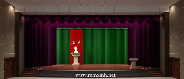 Phông rèm hội trường sân khấu  04