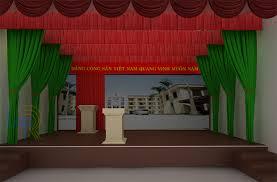 Phông rèm hội trường sân khấu  02