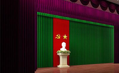 Phông nhung hội trường sân khấu 01