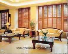 Công trình rèm sáo gỗ cho gia đình tại Ngân Hàng Rèm Hà Nội