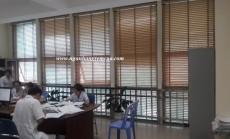Công trình rèm sáo gỗ lắp đặt tại Bệnh viện Đa Khoa Hoành Bồ - Quảng Ninh