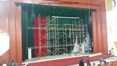 Phông rèm hội trường - tại trường Đại học sư phạm  Hà Nội 2