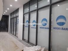 Rèm cuốn - rèm văn phòng lắp đặt tại ngân hàng Woori Bank - Thành phố  Hà Nam