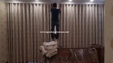 Rèm vải cao cấp dùng tự động lắp đặt tại Biệt thự Vinhomes  Riverside _ Long Biên